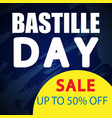 bastille day sale banner vector image