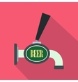Beer tap icon flat style vector image vector image