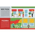 Best Pizza and Pizzeria flat concept web vector image vector image