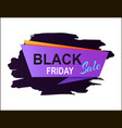 black friday sale placard vector image