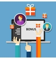 bonus employee reward benefits promotion offer vector image