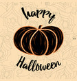 card happy halloween decorated pumpkin and vector image vector image
