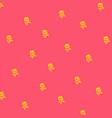 cartoon skull flat icon stylized human skull vector image