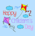 children day hand draw style doodles vector image vector image