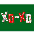 christmas hand-drawn lettering with doodles vector image vector image