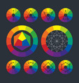 Color wheel complementary schemes in