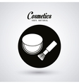 Cosmetic design Make up icon skin care concept vector image