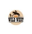 cowboy silhouette icon vector image vector image