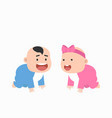 cute little baboy and bagirl vector image