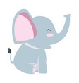 cute little elephant icon vector image