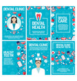 dental clinic and dentistry brochure vector image vector image