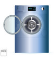 double open washing machine on white background vector image