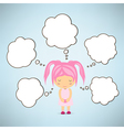 Dream girl cartoon vector image