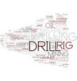 Drill word cloud concept vector image