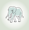 Elephant in minimal line style vector image