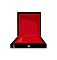 empty jewelry box with red lining vector image