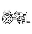 farm lift tractor icon outline style