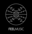 feel music logo poster vector image vector image