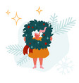 festive winter season holiday people vector image