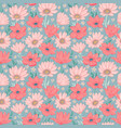 flowers seamless pattern vector image vector image
