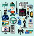 Gaming Gadgets Set vector image vector image
