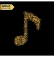 Gold glitter icon of musical key isolated vector image vector image