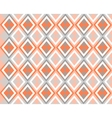 Grey white orange background with rhombuses vector image vector image