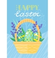 Happy Easter Holiday Card Design Flat vector image vector image