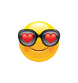 heart emoji icon 3d face smile for love chat vector image