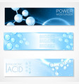 hyaluron acid or abstract molecule science design vector image vector image