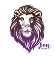 lion head logo for a mascot and t-shirt graphic vector image