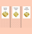 luxury brand premium label 100 exclusive emblem vector image vector image