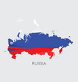map of russia vector image