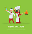 masters of international cuisine concept vector image vector image