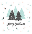 merry christmas cute greeting card scandinavian vector image vector image