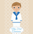 my first communion boy vector image vector image