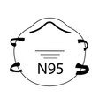 n95 face mask medical surgical n95 mask ppe vector image