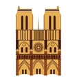 Notre Dame de Paris Cathedral vector image