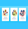 nursing home banners set vector image vector image