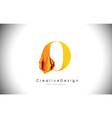 o orange letter design brush paint stroke gold vector image vector image