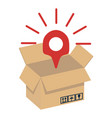 opened brown packaging vector image