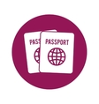 passpor emblem icon image vector image