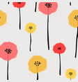 pattern with pastel flower vector image vector image