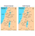 physical map holy land vector image vector image