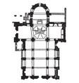 plan san michele pavia vintage engraving vector image vector image