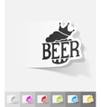 realistic design element king beer vector image vector image