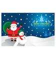 Santa Snowman Background vector image