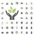 save ecology icon eco and alternative energy vector image