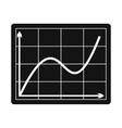 Screen arrow graph board icon vector image vector image