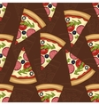 Seamless pattern two types of pizza salami vector image